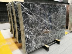 China new black and white marble big slab