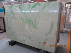 Green Artificial stone translucent onyx slab