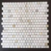 calacatta Gold square mosaic tile Polished