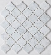 Carrara white lantern mosaic tiles