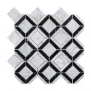 Carrara white and black marble