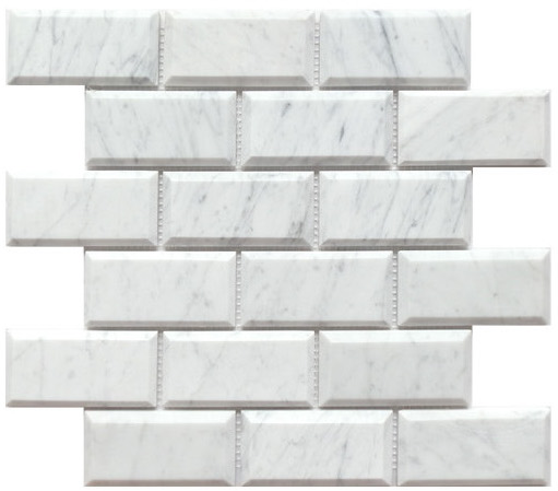 Carrara white honed