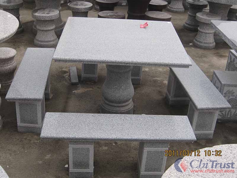 Stone Bench and Table