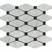 White marble with black dots