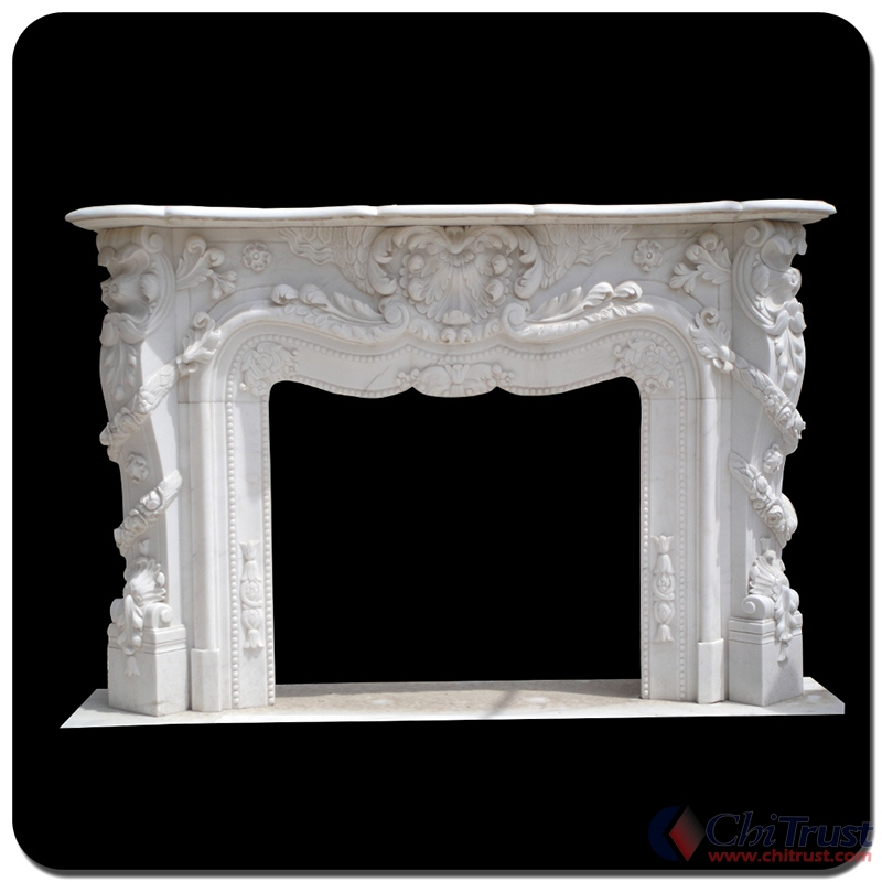 Marble fireplace 01