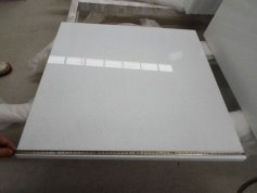 Super white crystal marble tile for project