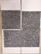 Nero Margiua tumbled mosaic tile