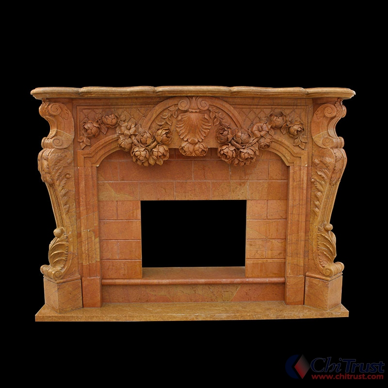 New design marble material classic stone fireplace