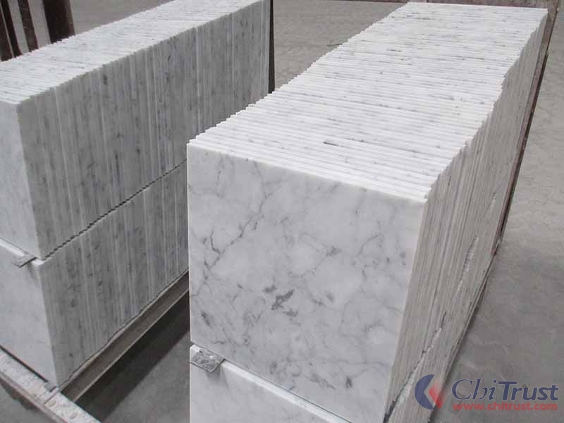 Italian bianco carrara white marble tiles