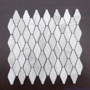 Wooden white bottle mosaic tile
