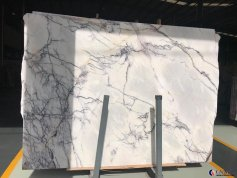 Lilac white marble slab