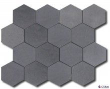 Big hexagon basalt mosaic tile