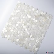Pure white shell small hexagon mosaic tile