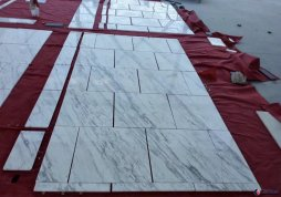 book match volakas white marble tile for project