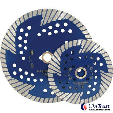 "6"" SIDE CUT QUAD DIAMOND TURBO BLADE"