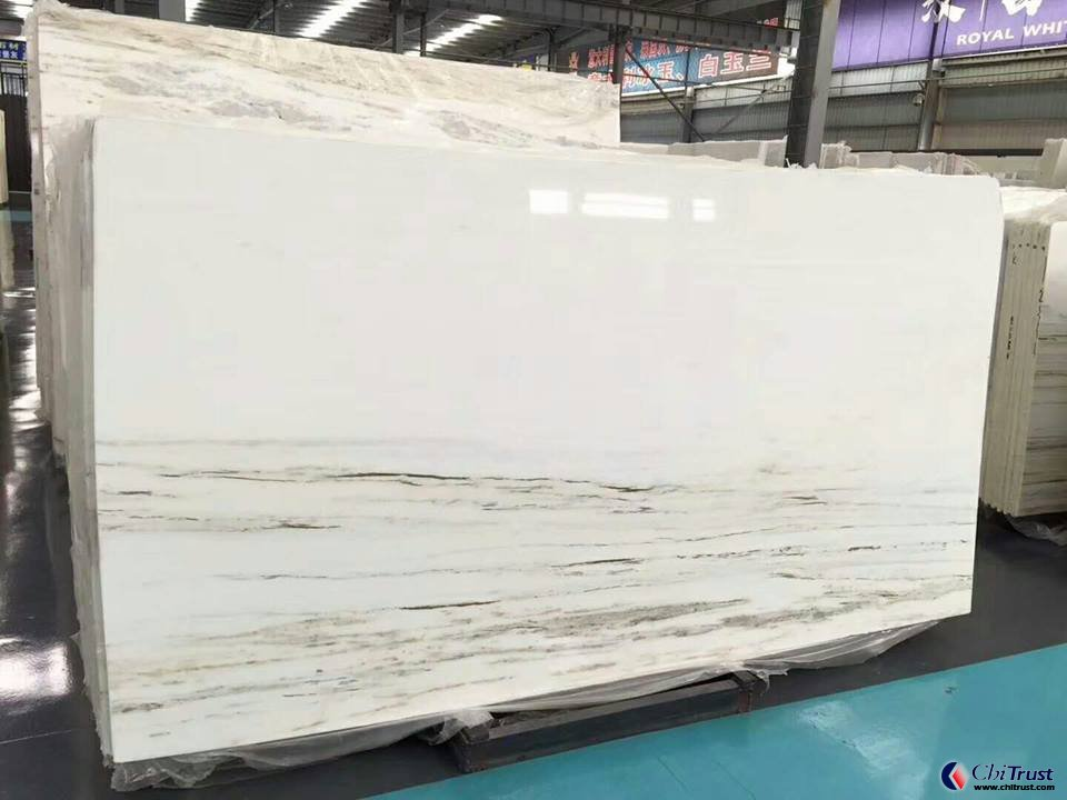 Beautifl royal white big marble slab