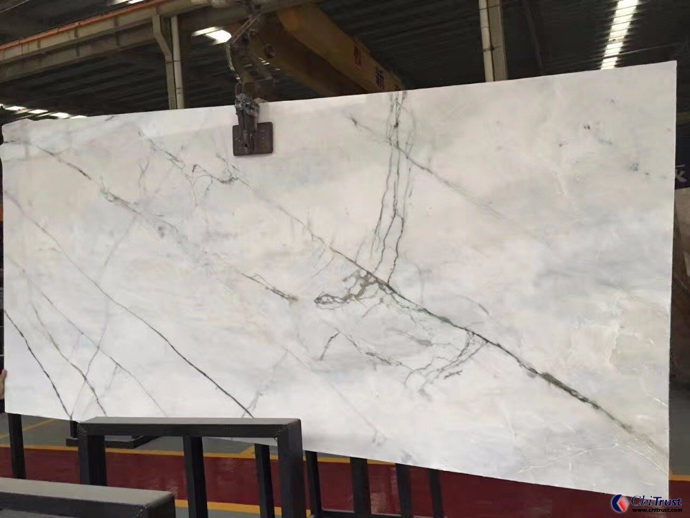 Orchid jade white marble with green veins
