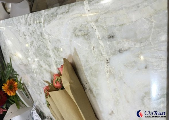 Natural white quartzite slabs