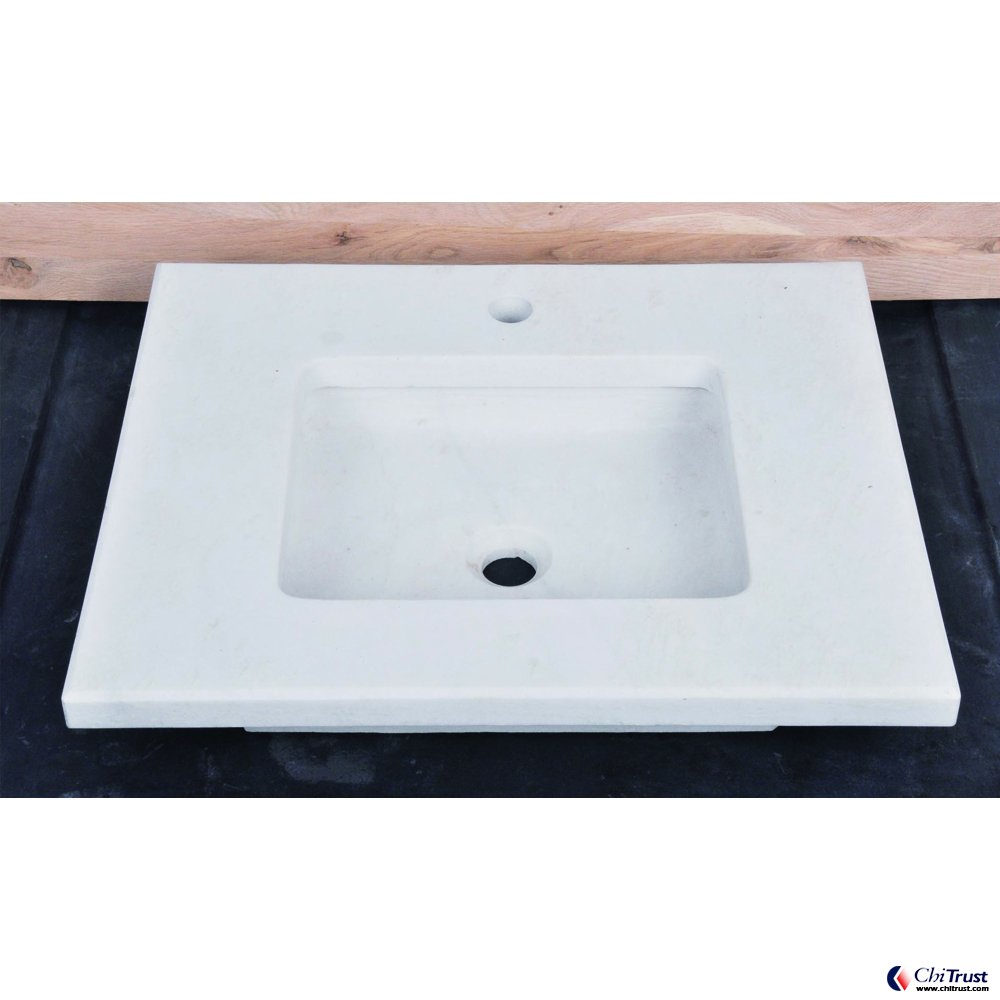 White marble stone basin CT-041