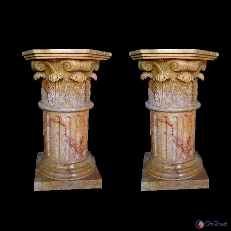 Hand carved decorative column