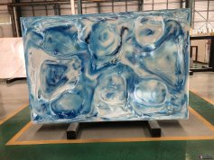 Artificial Blue Onyx Decorative Stone