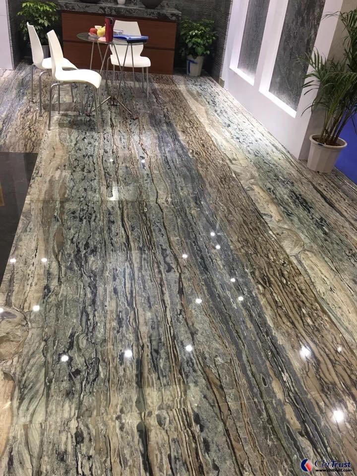 Leonardo Davinci Sandal Wood Marble Marble Slabs