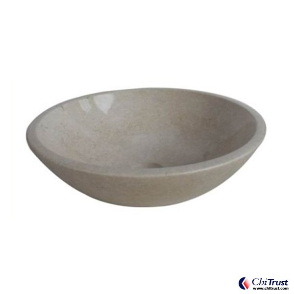 New Cream Marfil stone basin CT124