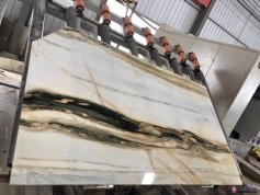 New arrival gold and white marble