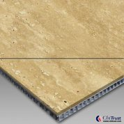 Beige Travertine-Aluminum Honeycomb Laminated Panel