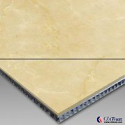 Cream Pearl-Aluminum Honeycomb Laminated Panel