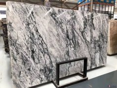 Violet white green marble
