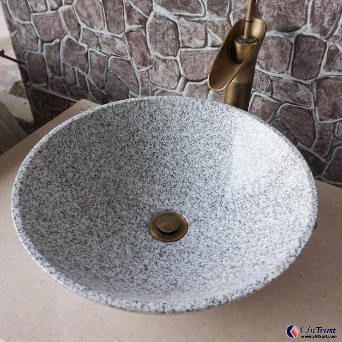 White granite stone basin China granite sink
