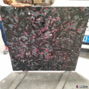 italy black night rose granite