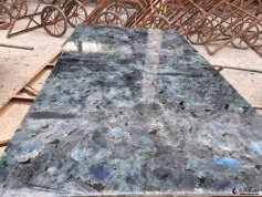 polished lemurian blue granite